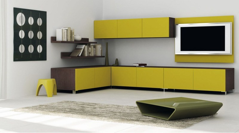 Colorful Wall Unit Furniture Living Room Sketch - Wall Art Design ...